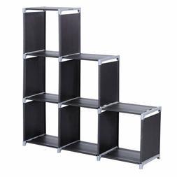 Storage Cube Closet 3 Tier Bookcase Display Bag Shoes Organi