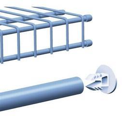 SuperSlide Wire White Shelf End Cap