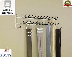 Tie Belt Hanger Rack Necktie Holder Closet Organizer Scarf S