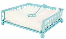 Home Basics NH47373 Trinity Flat, Turquoise Napkin Holder