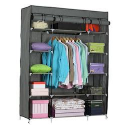 Upgraded Closet Wardrobe Clothes Rack Ample Storage Space Or