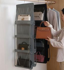 US 8 Pocket Purse Handbag Storage Bag Holder Closet Organize