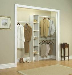 "Vertical Closet Organizer 12"" White Storage Rack Shelving Wa"