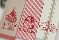 VINTAGE CHRISTMAS Kitchen Towels ** Set of 3 **  Brand NEW!!
