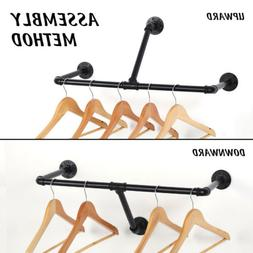 Wall Mounted Clothes Rack Drying Hanger for Laundry Closet S