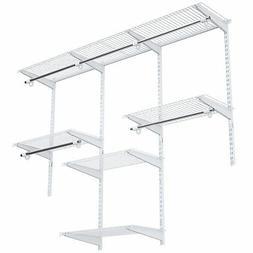 Wall Mounted Custom Closet Adjustable Hanging Storage Organi