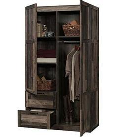 Wardrobe Armoire FarmHouse Rustic Reclaimed Wood Cabinet Sto