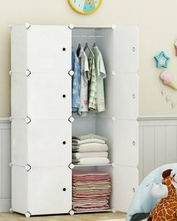 Wardrobe Portable Clothes Closet Organizer Bedroom Armoire D