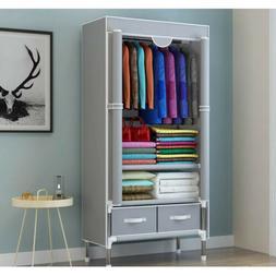 Wardrobe Storage Cabinet Folding Steel individual Closet Bed