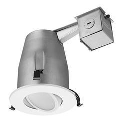 "LITHONIA WHITE MATTE 4"" LED GIMBALL Recessed Lighting Kit LK"